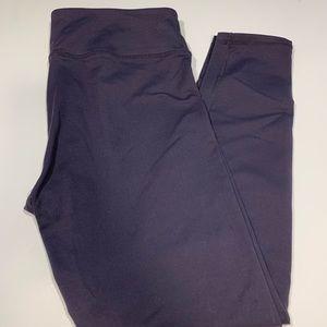 Fabletics Dark Gray Powerhold Leggings 7/8 Medium